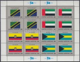 Flags of UNO states (V) minisheet set, ENSZ Államok zászlói (V) kisív sor