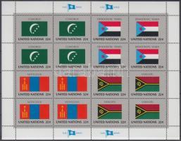 1987 ENSZ Államok zászlói (VIII) kisív sor Mi 524-539