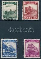 1935 100 éves a német vasút Mi 580-583 (Mi 583 betapadásnyomok) (Mi EUR 130.-)
