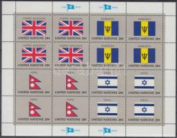 Flags of UNO states (IV) minisheet set, ENSZ Államok zászlói (IV) kisív sor