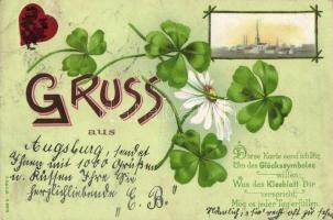 1899 Augsburg, clover litho