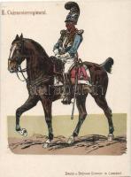 II. Cuirassier Regiment, cavalry (cut), II. Vértes regiment, lovasság (vágott)