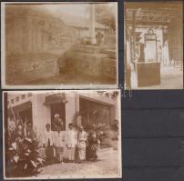 1923 Magyar távol kelet utazó 3 db fényképe Indonéziából feliratozva és Armand aláírással / Hungarian traveller in Indonesia 12x9 cm