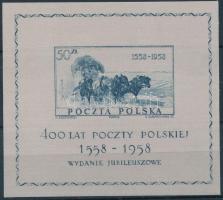 400th anniversary of Polish Post (IV) block, 400 éves a Lengyel Posta (IV) blokk