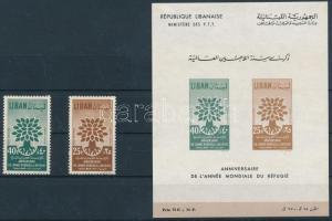 1960 Menekültek éve sor Mi 670-671 IA + blokk Mi 20