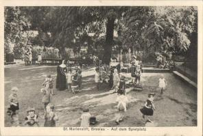 Wroclaw, Breslau; St. Marienstift, Spielplatz / kindergarten, playground