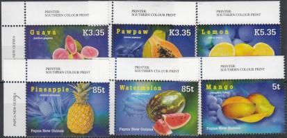 2007 Trópusi gyümölcsök ívsarki sor Mi 1217-1222