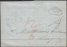 Bélyeg előtti levél Hamburgból Ausztriába Pre-philatelic letter from Hamburg to Austria