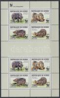 WWF: Giant forest hogs mini sheet, WWF: Óriás erdei disznók kisív