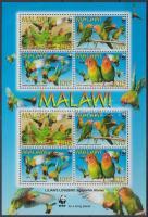 2009 WWF: Papagájok kisív Mi 819-822