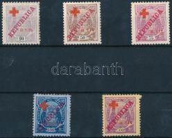 1917 Vöröskereszt értékek Mi 109-113