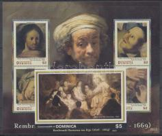2007 400 éve született Rembrandt kisív Mi 3798-3801 + vágott blokk Mi 524