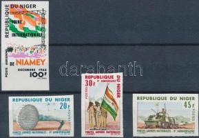 1965-1966 Hadsereg vágott sor + bélyeg Mi 114 + 132-134