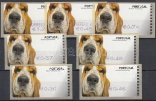 Automatic stamps: Dogs 7 diff values (sel-adhesive), Automata bélyegek: kutyák 7 klf érték (öntapadós)