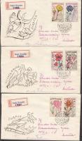 1965 Gyógynövények sor Mi 1583-1589 4 db ajánlott FDC-n