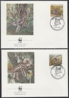 1988 WWF: Vadmacska 3 db FDC Mi 1734-1735, 1737