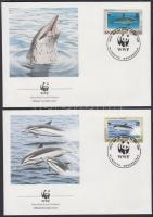 1990 WWF: Delfinek sor 4 db FDC-n Mi 786-789