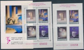 1992 Kényszerfelár bélyeg: Vöröskereszt fogazott és vágott blokk Mi 1 A+B + dísztok