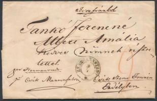 1855 Bérmentesítés nélkül feladott távolsági levél / Cover without franking, with 9kr postage due HERRMANNSTADT - CSIK MARTONFALVA - Csíkszentimre