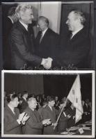 cca 1985 Grósz Károly magyar és külföldi politikusok 4 db fotón 18x13 cm