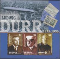 50th death anniversary of Ludwig Dürr mini sheet, 50 éve hunyt el Ludwig Dürr kisív