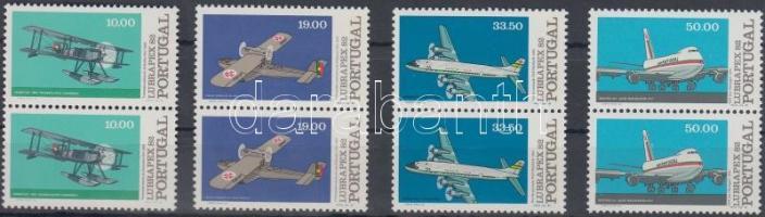 Stamp Exhibition: Planes set in pairs, Bélyegkiállítás: Repülők sor párokban