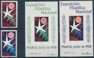 1958 Brüsszeli világkiállítás sor Mi 1117-1118 + blokk 13-14