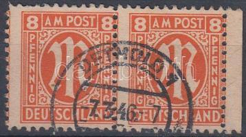 Forgalmi bélyeg ívszéli pár (eltolódott fogazással) Definitive stamp margin pair (shifted perforateion)