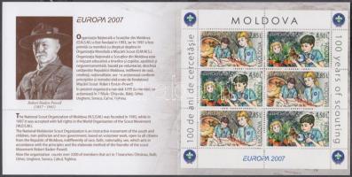 2007 Europa CEPT 100 éves a cserkészmozgalom bélyegfüzet MH 11 (Mi 582-583)