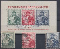 1949 Hannoveri vásár sor Mi 103-105 + blokk 1a