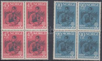 1960 Menekültek éve sor négyestömbökben Mi 442-443