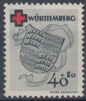 Württemberg 1949 Vöröskereszt Mi 43A