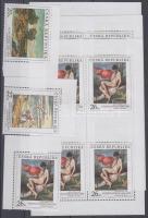 2004 A nemzeti galériák festményei ívsarki sor + kisívsor Mi 416-418