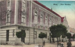 Stryi, Stryj; Dom Narodny / Ruthenisches Volkshaus, shoe shop of Pawel Derzko