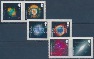 2007 Asztronómia: 50 éves az Éjszakai égbolt tévéműsor öntapadós sor (3 pár) Mi 2490-2495