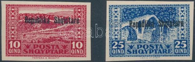 1925 Köztársaság próbanyomatok Mi 114-115
