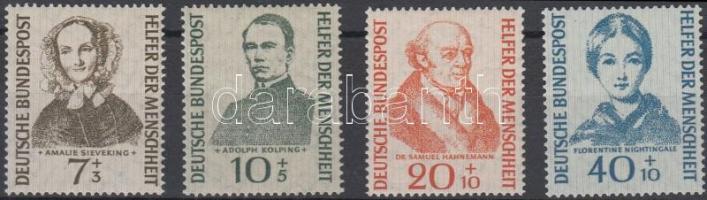 1955 Jótékonyság sor Mi 222-225