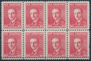 1925 Forgalmi nyolcastömb, az alsó értékek duplán fogazva Mi 136 B