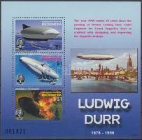 2007 50 éve hunyt el Ludwig Dürr kisív Mi 1772-1774