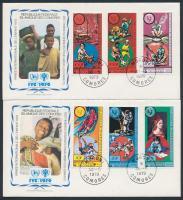 1979 Nemzetközi Gyermekév (I) sor Mi 553-558 2 FDC