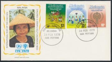 1979 Nemzetközi Gyermekév sor Mi 199-201 FDC