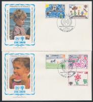 1979 Nemzetközi Gyermekév sor Mi 1370-1374 2 FDC