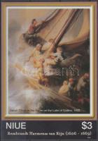 2007 400 éve született Rembrandt vágott blokk Mi 148