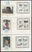 1979 Nemzetközi Gyermekév blokk sor Mi 14 I-16 I 3 FDC