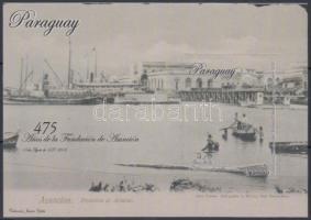 475th anniversary of Capital Asunción, ships block, 475 éves Asunción főváros, hajók blokk