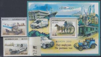 2013 Europa CEPT Postai járművek sor Mi 973-974 + blokk Mi 123 + kisívpár