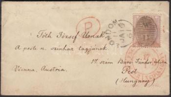 1861 Mi 14 levélen Pestre