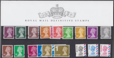 2007 Forgalmi: Machin tervezte II. Erzsébet királynőt ábrázoló bélyegek díszcsomagolásban