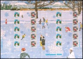 2006 Karácsony bélyegfólia Mi 2463 II C Zf - 2464 II C Zf