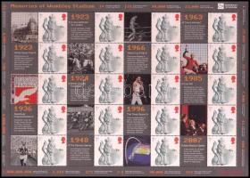 2007 A Wembley Stadion újbóli megnyitása (Smilers-ív) bélyegfólia Mi 2525 II